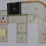 UGO RONDINONE : I ♥ JOHN GIORNO, Ugo Rondinone, Maquette de travail de l'exposition (catalogue, p. 14)