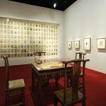 "Vue de l'exposition : salle ""Lotus bleu"". Image : nicolas adam studio - architecte scénographe"