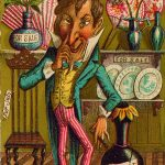 Carte publicitaire se moquant du mouvement esthétique, 1882. Collection Merlin Holland