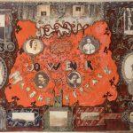 Frontispice comprenant 15 photographies sur papier salé, cirées et découpées, encres sur papier, aquarelle, gouache, crayon, 26,6 x 35,5 x 3,5 cm, 1855-1860, MVHP PH 2777, Maison de Victor Hugo ©