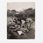 Photographie de la descente du fleuve Niger avec Jean Rouch, [1946-1947]. Descente du fleuve Niger. Archives Ponty-Sauvy/IMEC ©DR/©Michaël Quemener 2018