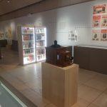 Lanterne magique, affiches publicitaires Hachette et bibliothèques, Vue de l'exposition Récits du monde, IMEC. Photo A. Reverseau