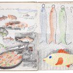 Claude Rutault, 1974 IV, 1974 Encres et crayons divers sur papier, avec collages, 27,3 × 22 cm, collection de l'artiste, Vaucresson