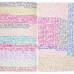 Julije Knifer, Sans titre [1996 5.VIII], 1996-2002 Stylos à bille de couleur sur papier, 20,6 × 14,5 cm, MAMCO, Genève