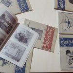 Expo Variétés, Arles, Salon de lecture avec facs similés, DR