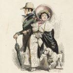 """J.J. Grandville (Jean Ignace Isidore Gérard, dit, 1803-1847). """"Le rentier et sa femme"""". Lithographie, 1840. Paris, Maison de Balzac. © Maison de Balzac - Paris Musée"""