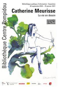 Affiche exposition Catherine Meurisse, reproduction avec l'autorisation de la BPI
