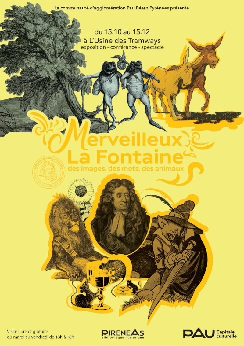 Merveilleux La Fontaine : des images, des mots, des animaux